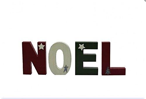 Noel lettera in legno blocchi-blocchi decorativi-Decorazione natalizia per ingresso.