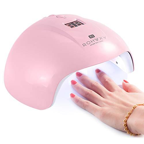 Haikaini Lámpara de uñas de Gel USB de 36 vatios, máquina Secadora de fototerapia de uñas, máquina de uñas con Sensor de Infrarrojos con Fuente de luz Dual, uñas y uñas Profesionales de Arte