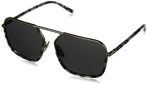 Dolce & Gabbana Herren 0DG2193J 488/87 59 Sonnenbrille, Schwarz (Pale Gold/Havana Black Clear/Grey),