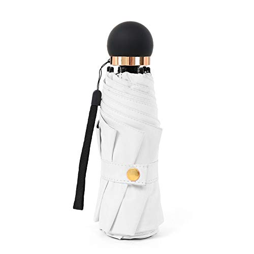 Regenschutz Outdoor Funktionstasche Regenfest Frauen Sonnenschirm Black Out UV Cut Falten 8 Knochen Super Light Five Fold Small Size Portable Einfach zu bedienen, sowohl Regen als auch Regen Mini Rege