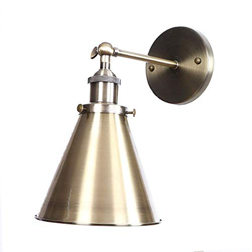 Oevina Modern Verstellbare Swing Arm Wandleuchte rustikale Lampe, Bronze Wandleuchte Vintage Industrielle Wandleuchte E27 für Flur Schlafzimmer [Hall] -A (Color : C) -
