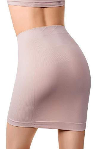baa8b8b9b2 MD Women s Shapewear High Waisted Nylon Firm Tummy Control Half Slip Body  Shaper NudeXXXL