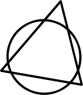 Mister Merchandise Tasche Kreis und Dreieck Stofftasche , Farbe: Natur Natur