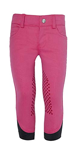 HKM Kinder Reithose-Paradiso-Silikon Knie Besatz Hose, pink, 122