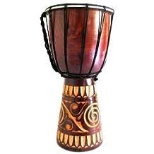 60cm Djembe tradizionale fatto a mano/tamburo, pelle di capra, legno