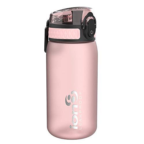ion8 Leak Proof BPA Free, Botella de agua, sin BPS, a pueba de fugas, Rosa (Frosted Rose Quartz), 350 ml