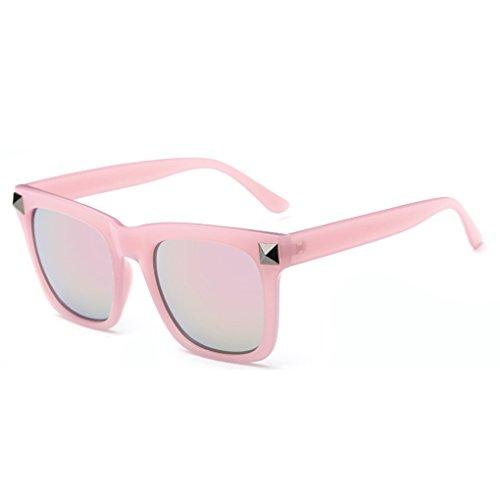 QHGstore Unisex Hombres Mujeres aviador retro gafas de sol grandes del