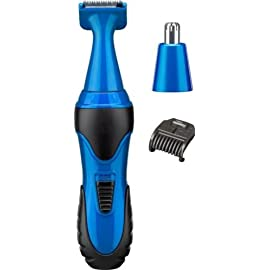 mens mini facial hair trimmer - 31duTMoJ OL - DURABLE BABYLISS BLUE MENS MINI FACIAL HAIR TRIMMER CLIPPER NOSE EAR EYEBROW