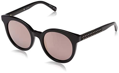 Stella McCartney Unisex-Erwachsene SC0097S 005 Sonnenbrille, Schwarz (005-Black/Silver), 50