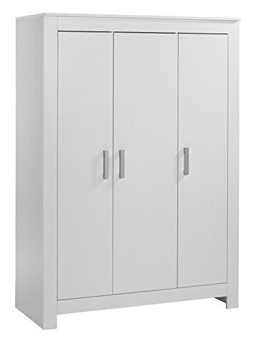 Geuther - 3-teiliger Kleiderschrank Marlene, made in Germany, 3-türig, 2 Kleiderstangen, 4 Einlegeböden, weiß