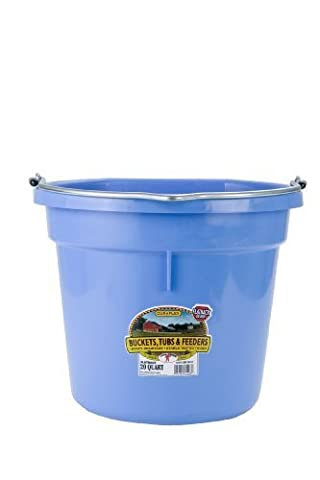 Miller Manufacturing P20FBBERRYBLUE Plastic Flat Back Bucket for Horses, 20-Quart by Miller Manufacturing
