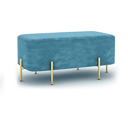 YCSD Klassische Mode Wohnmöbel - Ottomane Bank Mit Goldenen Metallbeinen, Für Wohnzimmer, Foyer Oder Flur (Color : A3) - Chrom-leder Sitzbank
