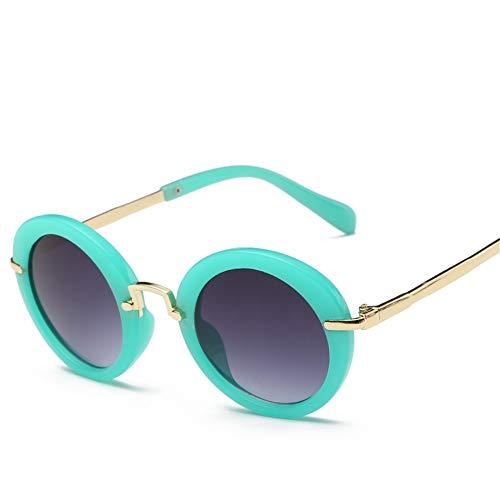Sonnenbrille Kinder Niedliche Sonnenbrille Runde Sonnenbrille Boys Girls Classic Retro Sonnenbrille Uv-Schutz Candy Farbe Brillen Zubehör Grün Violett