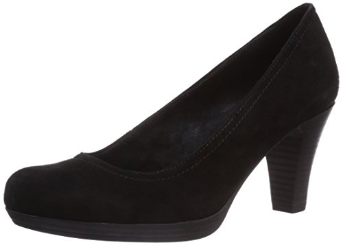 Tamaris 22410, Decolleté chiuse donna Nero (Schwarz (Black Suede 004))