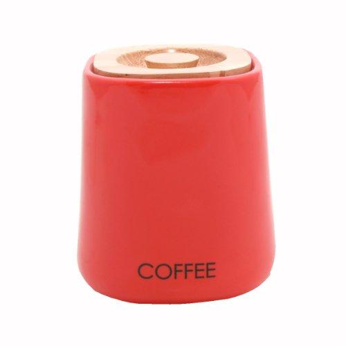 Price & Kensington Keramik-Kaffeedose eckig rot