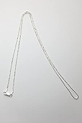 """Chaine en argent 51cm/Sterling ball chain with clasp 20"""""""