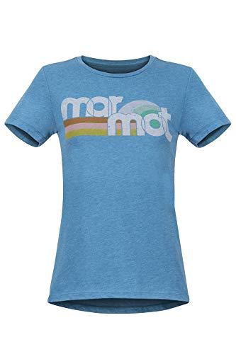 Marmot Damen Wm's Oceanside Tee Short Sleeve T-Shirt Kurzarm, Funktionsshirt, Schnell Trocknend & Atmungsaktiv, Late Night Heather, S