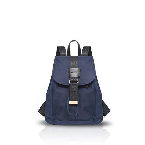 New Girl Travel Rucksack-Schul Daypack Freizeit Nylon Wasserdicht blau Nicole & Doris