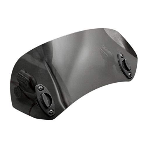 TOOGOO Deflettore Antivento per Moto con Clip Regolabile sul Parabrezza (Nero)