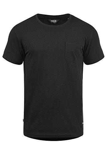 !Solid Bob Herren T-Shirt Kurzarm Shirt Mit Rundhalsausschnitt, Größe:XXL, Farbe:Black (9000)