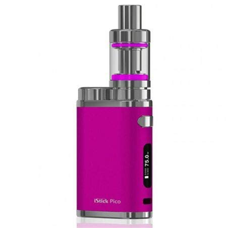 Eleaf - Full Kit iStick Pico potenza 75w Box elettronico per sigaretta elettronica senza nicotina con atomizzatore Eleaf Melo 3 Mini (Hot Pink)