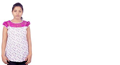 Magic Design Causal Cape Sleeve Polka Print Women's Top