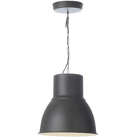 IKEA lampadario HEKTAR, 47cm, in acciaio grigio scuro/antracite