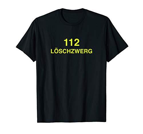 Feuerwehr T-Shirt Kinder Löschzwerg 112 Kostüm Uniform Junge (Kostüm Für Junge Frauen)