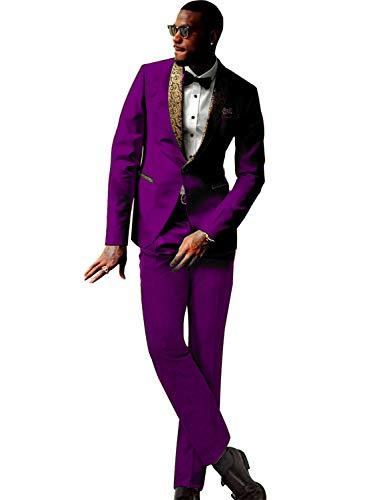 FRANK Herren rauchend 2 Stück Schal Revers EIN Knopf Hochzeitsanzug