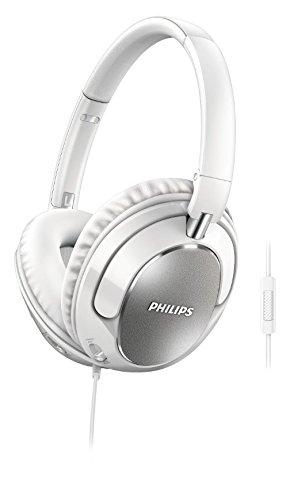 Philips FX5MWT/00 OverEar-Kopfhörer mit Mikrofon weiß