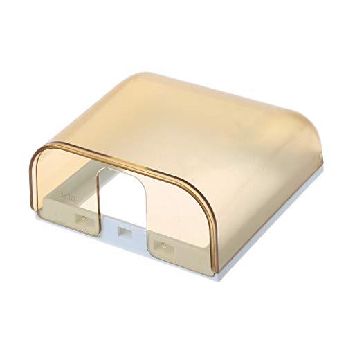 JENOR Universal 86 Typ Steckdose Wasserdichte Box Plate Panel Switch Schutzabdeckung Gold Dual Wall Plate