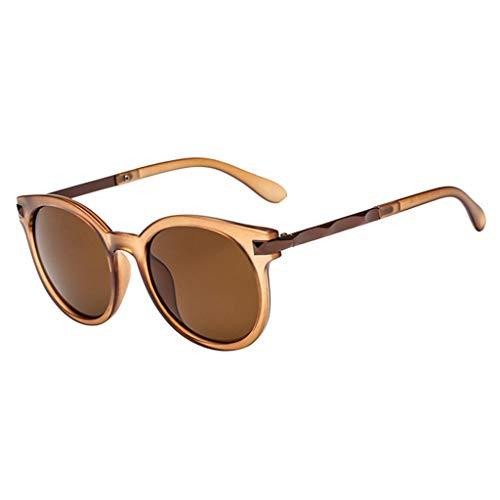 Honestyi Polarisierte Sonnenbrillen für Frauen, Verspiegelte Brillengläser Eyewear 3262 retro frame mirror mode brillengestell flache gläser