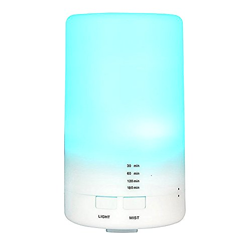 Lifecolor 125ML Diffuseur d'Huiles Essentielles Humidificateur d'air Portable Ultrasonique Purificateur d'air USB, 16 voyants LED couleur et 4 réglages de la minuterie