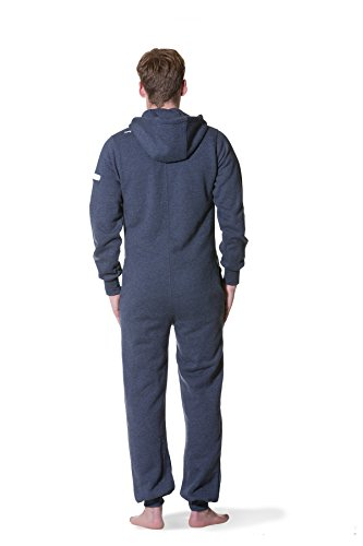 Jumpster Damen und Herren Jumpsuit Weicher Onesie Exquisite Regular Fit Blau S - 2
