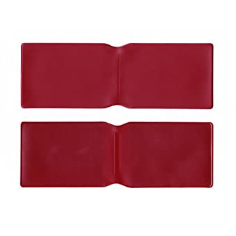 50x Burgund Kunststoff Oyster Card Wallet Abdeckung/Halterung/