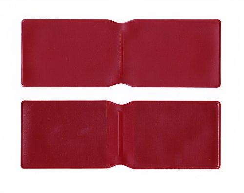 10x Burgund Kunststoff Oyster Card Wallet Abdeckung/Halterung/