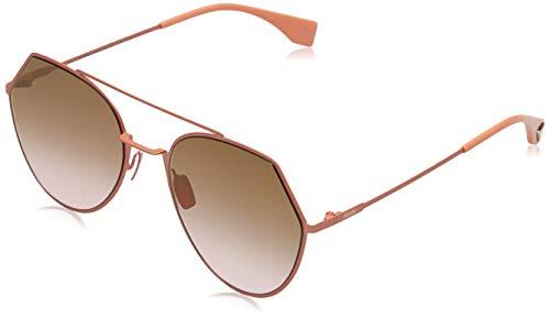 Fendi ff 0194/s 53 733 55 occhiali da sole, rosa (peach/rose), donna