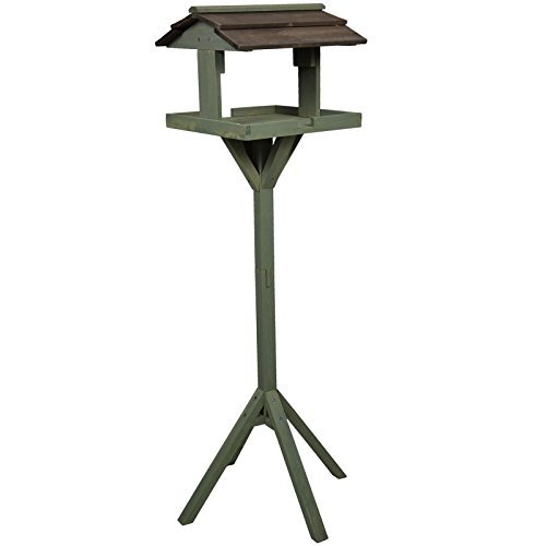 traditional-wooden-green-bird-table-garden-birds-feeder-feeding-station-free-standing-nest-house