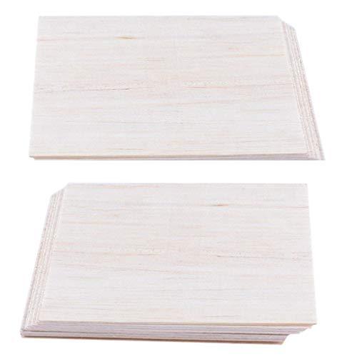 FLAMEER 20x Balsa Holzplatten Holzplatte Für DIY Flugzeug Modell 150 X100 X 2mm (Balsa-flugzeug-modelle)