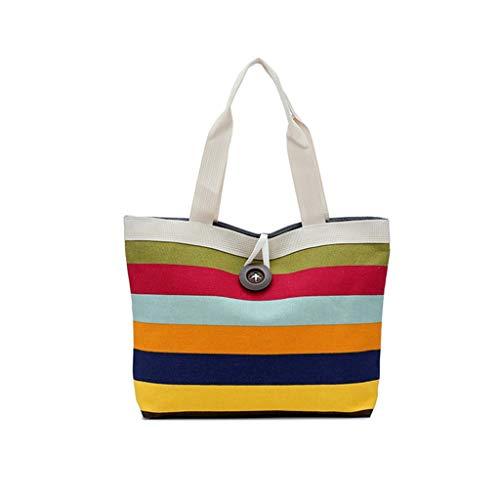 Janly Lagerung Tasche,Frauen einkaufen Reisen Umhängetaschen Falten Eco Grocery Handtasche Tote Pouch Bag (A)