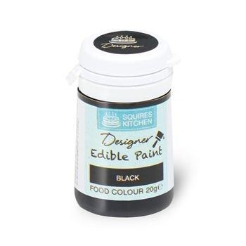 Squires Kitchen Professionnel Colorant Alimentaire Peinture Comestible Pour Décoration de Gâteau 20g - Noir