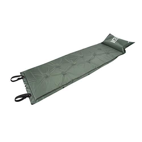 Webla Kissen Feuchtigkeitsbeständige Aufblasbare Kissen Einzel Aufblasbare Bett Outdoor Grüne Armee Outdoor Camping Mat Dicke Aufblasbare Automatische Mit Kissen