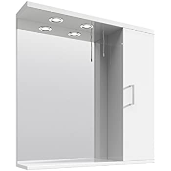 white bathroom mirror with shelf. veebath linx 750mm bathroom white gloss mirror storage unit wall with lights shelf e