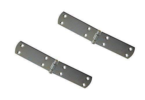 Gedotec französische Kistenbänder Scharnier aus Stahl | 140 x 35 mm | Torband blau verzinkt | 2 Stück