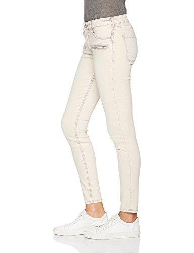 Scotch & Soda Maison Damen Slim Jeans (Schmales Bein) La Parisienne Zip-Colour Euphoria Grau (antra Melange 0o)