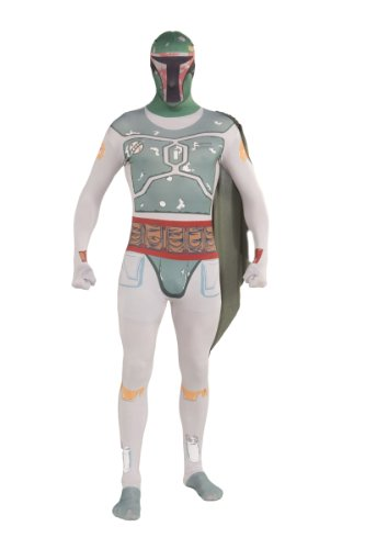 Rubie 's Offizielle Star Wars Boba Fett 2nd Skin, Erwachsene Kostüm-Große (Fett Boba Anzug)