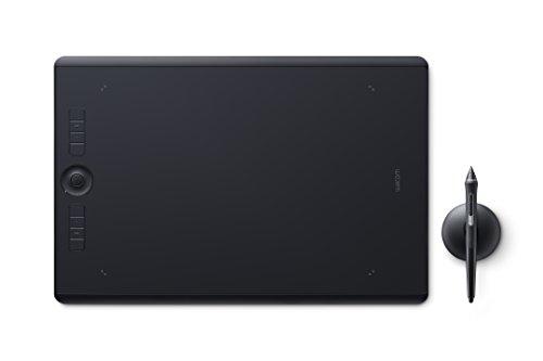 Wacom Intuos Pro Stifttablett Größe L – Grafiktablett inkl Pro Pen 2 Eingabestift mit Verschiedenen Spitzen – Kompatibel mit Windows & Apple
