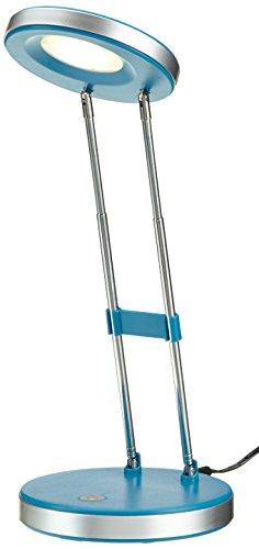 Integrierte Halogen Beleuchtung (Lightbox Mike LED Teleskop Tischleuchte, höhenverstellbar, 3.3W LED integriert, Metall / Kunststoff, blau G92952A03)