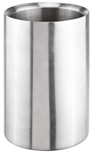 Bambelaa! Weinkühler Sektkühler Flaschenkühler silber Edelstahl doppelwandig ca. 12 x 19 cm 1 Stück