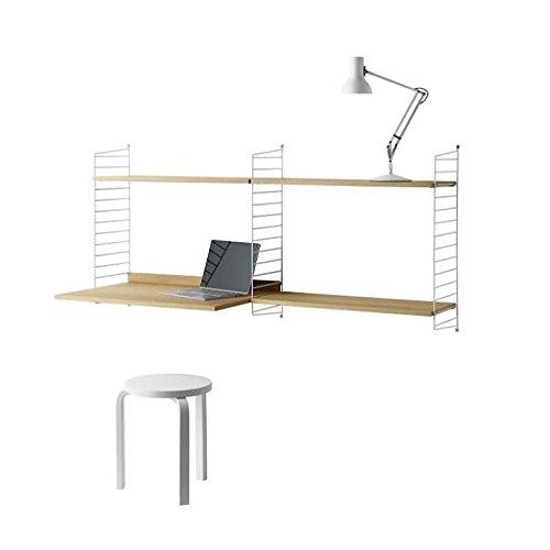 String - Combinación Escritorio 158x75x30cm Blanco/Roble/Lacado/An